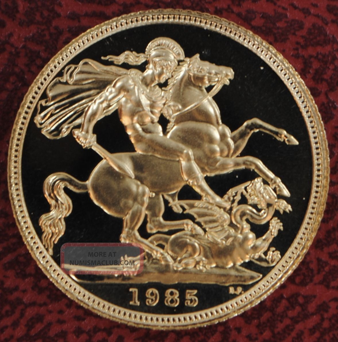 1985 Gold Full Sovereign Great Britain Proof Royal With Case & 1 Sov UK (Great Britain) photo