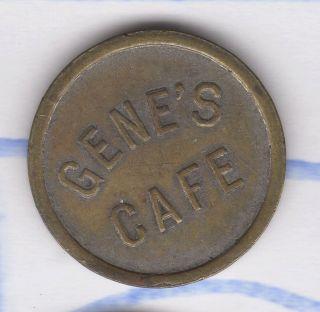 Vtg Antique Coin Sauk Rapids Mn Trade Token Gene ' S Cafe Air Conditioned photo