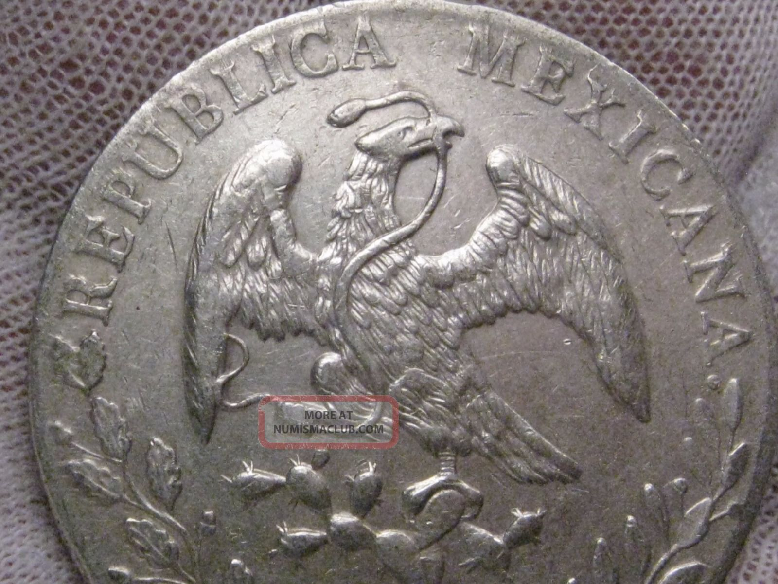 1897 Cn Am 8r Silver 8 Reales  Second Republic Of Mexico