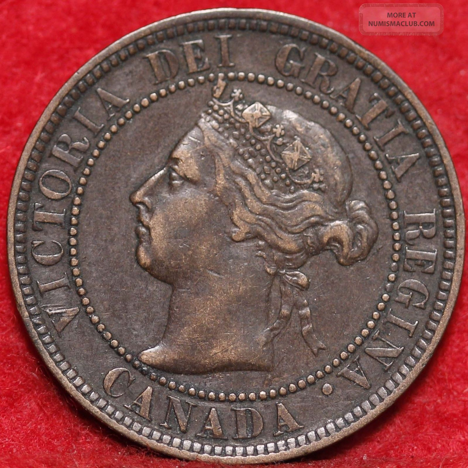 1896 Canada Large Cent Foreign Coin S H