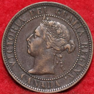 1896 Canada Large Cent Foreign Coin S/h photo