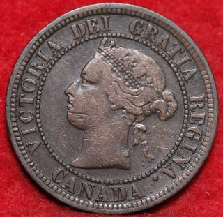 1882 Canada Large Cent Foreign Coin S/h photo