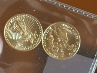 2 Gold American Eagles 1/10th Ounce Each Year 20015 Time To Buy photo