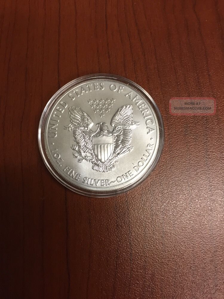 2015 Silver American Eagle Incapsulated In Air Tite