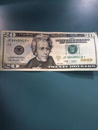 Star Note $20 Twenty Dollar 2009 photo