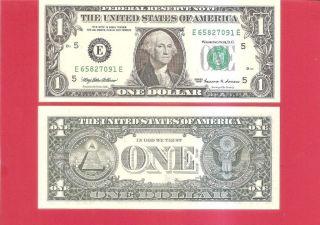 Usa Frn $1 - 1999 - - E/e - Uncirculated photo