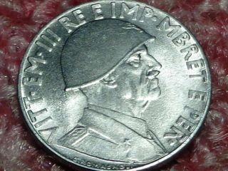 Albania Unc 1941 R,  0.  20 Lek,  Italian Occupation,  Vittorio Emanuele Iii.  Wwii.  Magnet photo