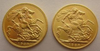 Gold Sovereigns Great Britain United Kingdom British Gold (zxc1) photo