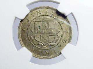 1895 Jamaica Farthing Nickel Coin Ngc Ms 62 1/4p photo