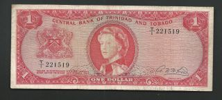 Trinidad And Tobago 1964 $1 Qeii 1519 photo