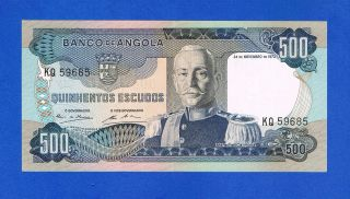 Angola 500 Escudos 1972 Pic101 Very Fine Kq59685 photo