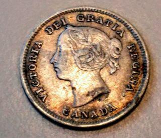 1891 Canada 5 Cent.  132875 photo