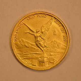 2014 Mexico 1/20 Onza Gold Libertad Coin photo