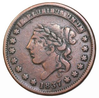 1837 Millions For Defence Not One Cent Hard Times Token Liberty Head photo