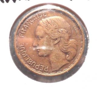 Circulated 1951 50 Francs French Coin @ photo