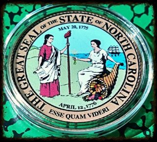 North Carolina State Seal Bxb363 Colorized Art Round photo