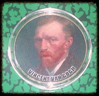 Vincent Van Gogh Bxb235 Colorized Art Round photo