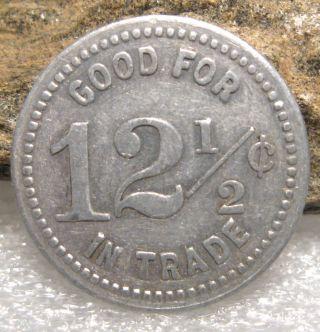 Vintage 12 1/2 Cents Trade Token Sacajawea Club Good For Token Coin photo