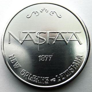Nasfaa Convention Token - 1977 Iris Plain Aluminum 10ga Doubloon photo