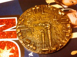 Big Heavy Finland Medal 250 Grams Bronze Gift From Paperfactory 1918 - 1968 Brass photo