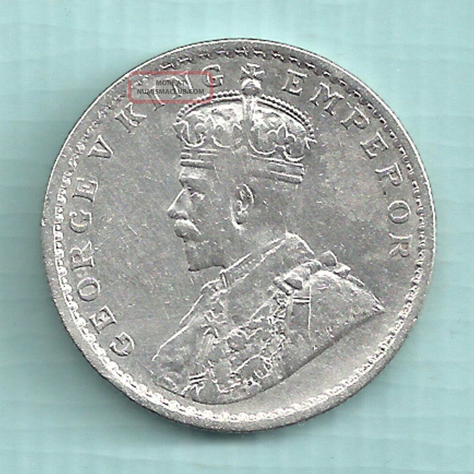 British India 1914 King George V Emperor One Rupee