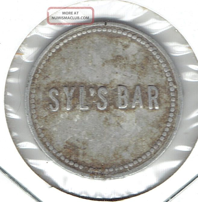 Big Falls,  Wisconsin? Trade Token Syl ' S Bar Exonumia photo