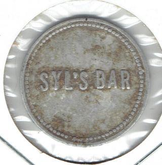 Big Falls,  Wisconsin? Trade Token Syl ' S Bar photo