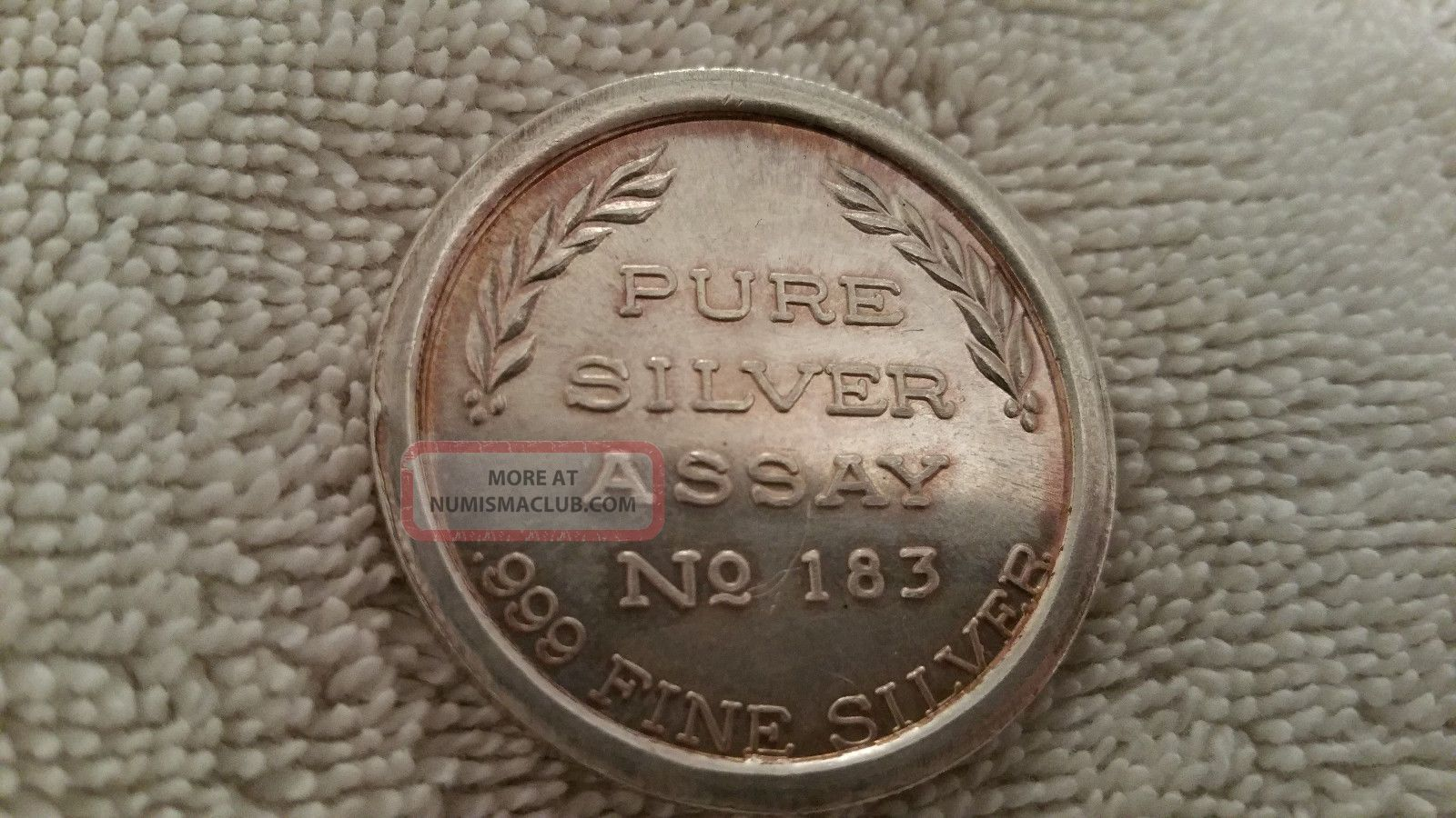 Vintage One Troy Ounce 999 Fine Silver Assay No 183 Eagle