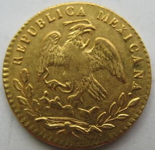 1853 Mo Gc Mexico Gold 1/2 Escudo (scratched) photo