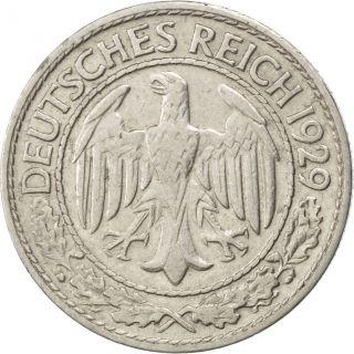 [ 82159] Allemagne,  République De Weimar,  50 Reichspfennig 1929 D,  Km 49, . photo