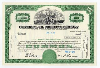 Universal Oil Prodducts Company Stock Certificate photo
