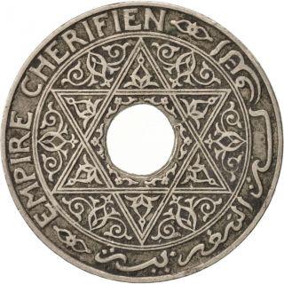 [ 93708] Morocco,  Yusuf,  25 Centimes,  1924,  Poissy,  Ttb,  Copper - Nickel, . photo