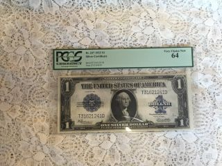 Ac Fr 237 $1 1923 Silver Certificate Pcgs Very Choice 64 Uncirculated photo