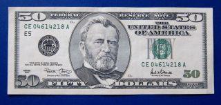 $50 2001 Frn Fr - 2126 - E Richmond Au photo