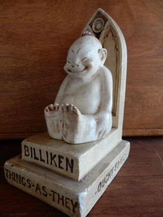 1908 Billiken On Throne Figure Good Luck Billiken Company photo