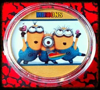Minions Cartoon Bxb630 Colorized Art Round photo