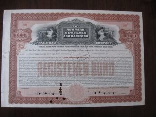 $10,  000 Bond Haven Railroad York Haven And Hartford Railroad 1945 photo