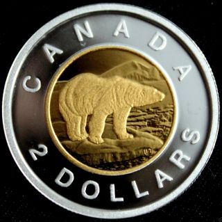 Canada 2013 Rare 9999 Silver W/ 24k Selective Gp Core Toonie Pf67 Or Better photo