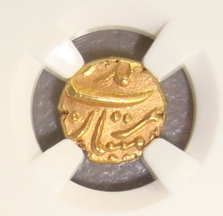 (1754 - 59) Mughal Empire (india) Alamgir Ii Gold Pagoda Ngc Ms63 photo