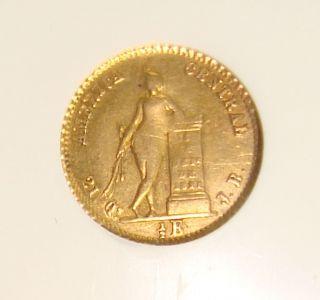 1851 - Jb Costa Rica Republic Gold 1/2 Escudo,  Standing Indian Type Ngc Au50 photo