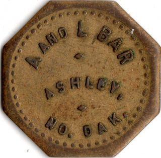 Ashley North Dakota A And L Bar Merchant Good For Trade Token photo