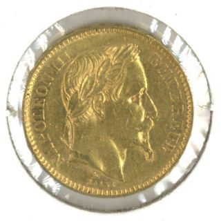 France 1862 - A 20 Francs Gold.  1867 Oz.  Agw Napoleon Iii photo