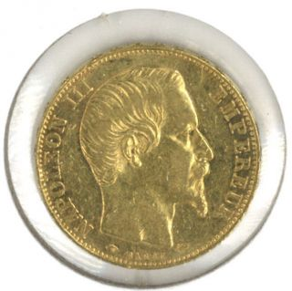 France 1855 - A 20 Francs Gold.  1867 Oz.  Agw Napoleon Iii photo