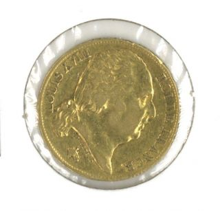 France 1819 - A 20 Francs Gold.  1867 Oz.  Agw Louis Xviii photo