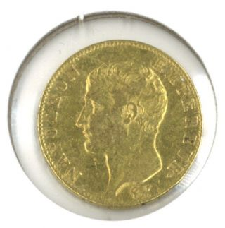 France An 13 - A (1805) 20 Francs Gold.  1867 Oz.  Agw Napoleon Bonaparte photo