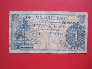 Netherland Indies : De Javasche Bank Of Een Gulden (1948) photo