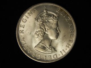1964 Bermuda 1 Crown - Silver - Uncirculated photo