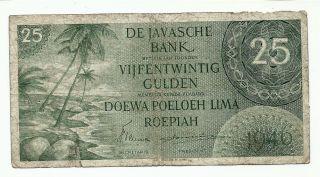 Netherlands Indies 25 Gulden 1946 Federal I Indonesia P91 =fine= photo
