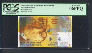 Tt Pk 67a 2000 Switzerland 10 Franken