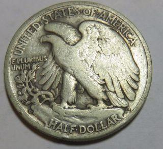 1944 D Re Engraved Designer Initials Walking Liberty Half Dollar photo
